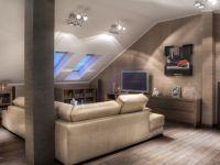 Дизайн мансарды в деревянном доме5