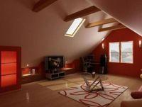 Дизайн мансарды в деревянном доме6