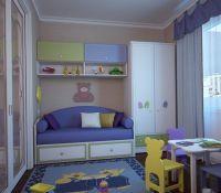 7. Дизайн однокомнатной квартиры с детской
