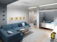 Дизайн однокомнатной квартиры с нишей9