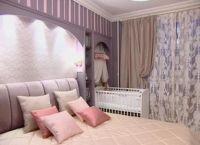 Дизайн спальни с детской кроваткой3