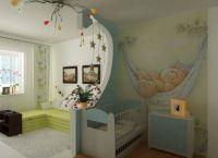 Дизайн спальни с детской кроваткой4
