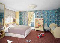 Дизайн спальни с детской кроваткой9
