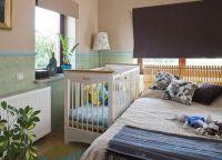 Дизайн спальни с детской кроваткой2