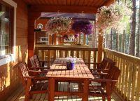 Дизайн веранды в частном доме2