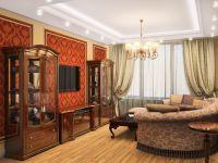 Дизайн зала в частном доме1