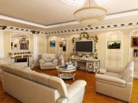 Дизайн зала в частном доме2