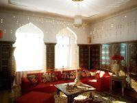 Дизайн зала в частном доме4