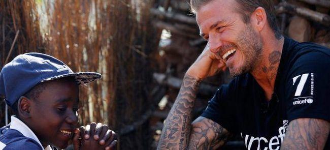 Дэвид Бекхэм побывал в Свазиленде в качестве посла UNICEF