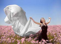 фотосессия в поле в платье