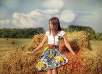 фотосессия в поле в платье 9