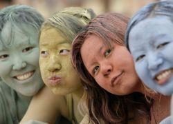 Синяя глина для лица