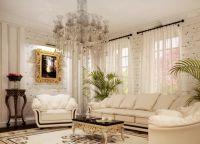 Интерьер гостиной в частном доме1