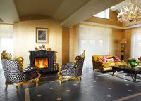 Интерьер гостиной в частном доме3
