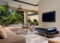 Интерьер гостиной в частном доме4