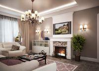 Интерьер гостиной в частном доме5