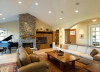 Интерьер гостиной в частном доме8