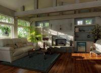 Интерьер гостиной в частном доме9