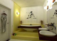 Идеи для маленькой ванной комнаты 4