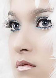 иней на ресницах серебряный макияж глаз