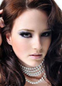 серебряный макияж 1