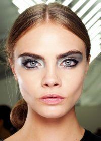 серебряный макияж 3