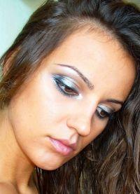серебряный макияж 8