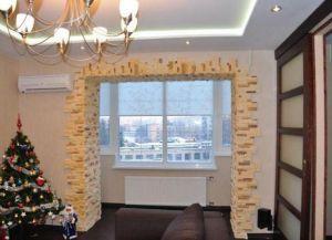 Интерьер комнаты с балконом- 1