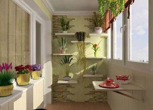 Дизайн интерьера балкона -2