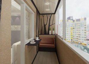 Интерьер узкого балкона -2