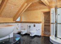 Интерьер деревянного дома внутри11