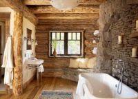 Интерьер деревянного дома внутри12