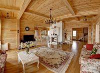 Интерьер деревянного дома внутри2