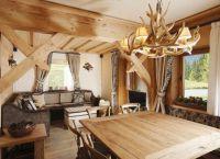 Интерьер деревянного дома внутри3