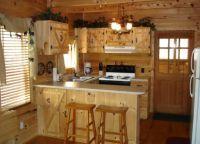 Интерьер деревянного дома внутри4