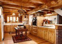 Интерьер деревянного дома внутри6
