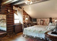 Интерьер деревянного дома внутри8