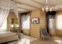Интерьер деревянного дома внутри9