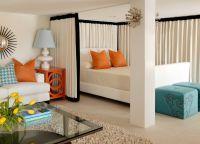 Интерьер гостиной-спальни8