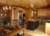 Интерьер гостиной в деревянном доме1