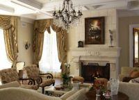 Интерьер гостиной в доме17