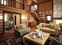 Интерьер гостиной в доме1