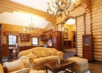 Интерьер гостиной в доме3