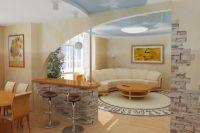 гостиная кухня в современном стиле1