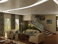 4. Интерьер холла с лестницей