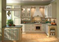 Интерьер кухни в частном доме10