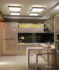 Интерьер кухни в частном доме9