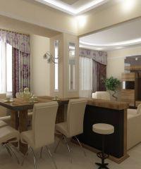 Интерьер кухни в частном доме4