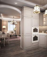Интерьер кухни в частном доме5