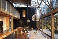 Кухня гостиная в деревянном доме 3